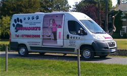 Marmaduke's Mobile Dog Grooming Van covering york to hull, dog wash